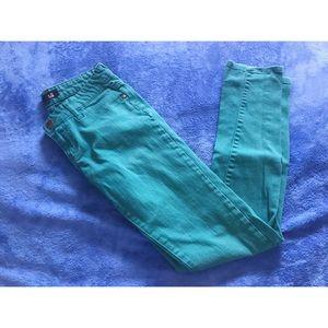 🆑Forever21 Demin | Green Skinny Jeans | Size 25